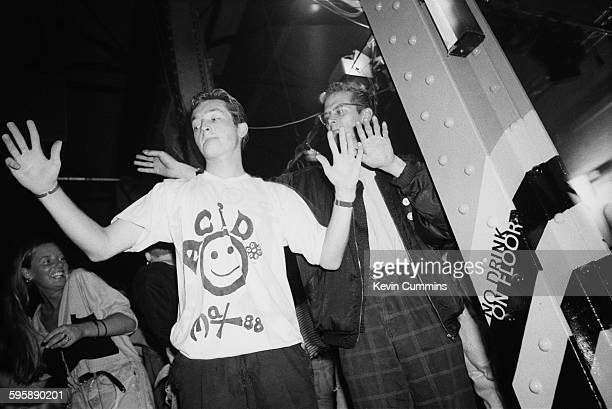 Clubbers at The Hacienda in Manchester for a popular acid house night 'Hot' 5th October 1988