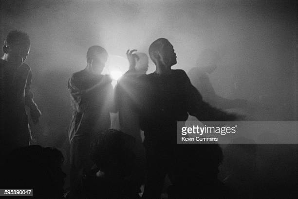 Clubbers at The Hacienda nightclub on the night of the club's 8th birthday party Manchester 21st May 1990
