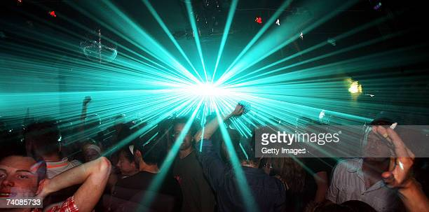Clubbers attend the Def Mix 20th Anniversary Weekender at Turnmills nightclub on May 4 2007 in London England The Weekender sees the start of the...