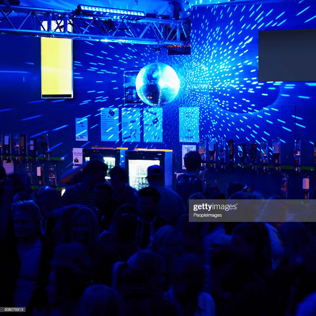 Clubbing the night away : Stock Photo