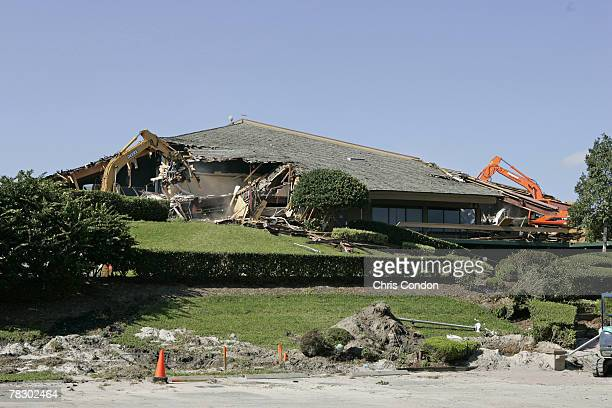 Clubhouse demolition during the early stages of the TPC Sawgrass renovation in Ponte Vedra Beach, Florida on April 10, 2006. Photo by Chris...