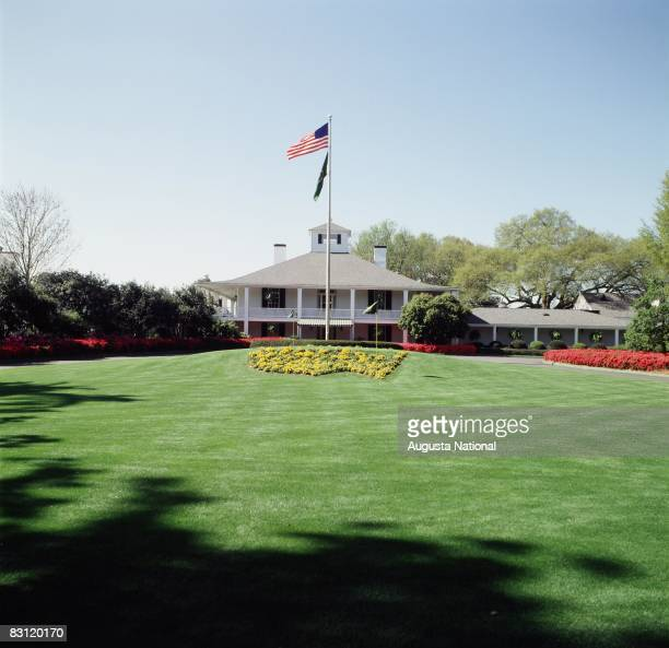 Clubhouse from the front at the Augusta National Golf Club in 1999 in Augusta, Georgia.