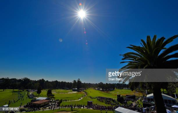 A clubhouse scenic view during the first round of the Genesis Open at Riviera Country Club on February 15 2018 in Pacific Palisades California