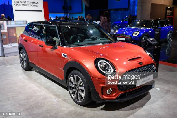 Clubman compact station wagon on display at Brussels Expo on January 9 2020 in Brussels Belgium The Clubman is the estate version of the MINI model...
