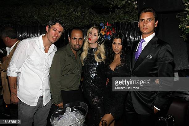 SPECIAL RATES APPLY Clubowners Barry Mullineaux and John B with Celebrity Makeup Artist Joyce BonelliKourtney Kardashian and Scott Disick visit...