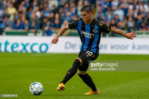 Club's Federico Ricca pictured in action during a soccer match between Club Brugge KV and Beerschot VA, Sunday 22 August 2021 in Brugge, on day 5 of...