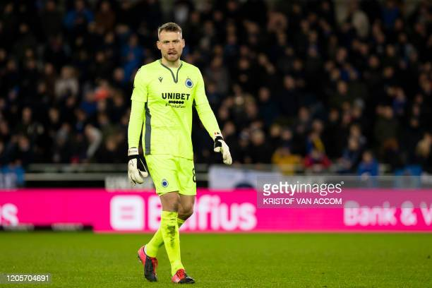 Club's goalkeeper Simon Mignolet pictured during a soccer match between Club Brugge KV and Cercle Brugge KSV Saturday 07 March 2020 in Brugge on day...
