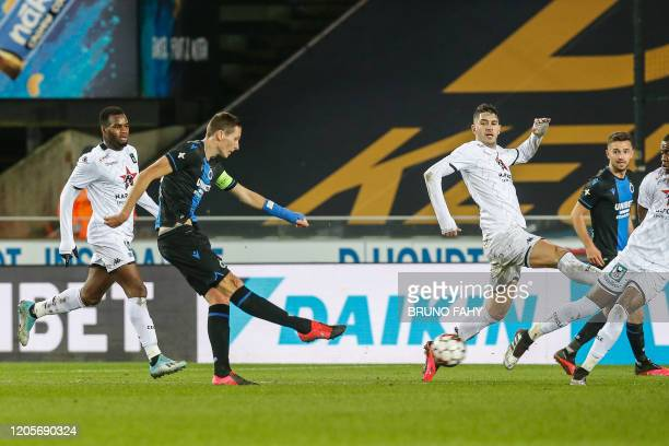 Club's Hans Vanaken scores the 10 goal during a soccer match between Club Brugge KV and Cercle Brugge KSV Saturday 07 March 2020 in Brugge on day 29...