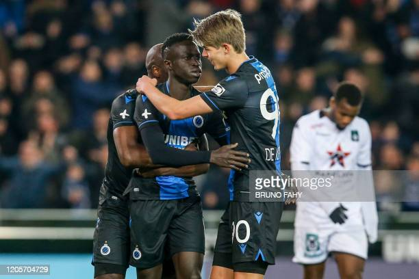Club's Krepin Diatta celebrates after scoring during a soccer match between Club Brugge KV and Cercle Brugge KSV, Saturday 07 March 2020 in Brugge,...