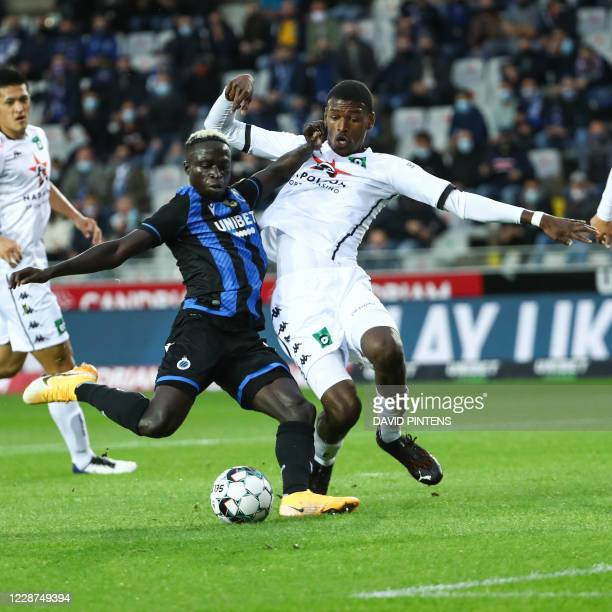 Club's Krepin Diatta scores a goal during the Jupiler Pro League match between Club Brugge KV and Cercle Brugge, Sunday 27 September 2020 in Brugge,...