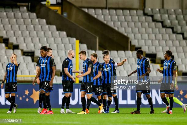 Club's Ruud Vormer celebrates after scoring during a soccer match between Club Brugge and KV Mechelen, Saturday 31 October 2020 in Brugge, on day 11...
