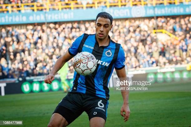Club's Sofyan Amrabat fights for the ball during a soccer match between Club Brugge and Charleroi Sunday 20 January 2019 in Brugge on day 22 of the...