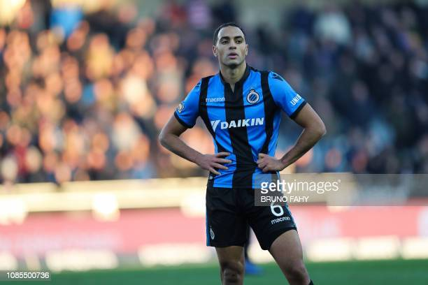 Club's Sofyan Amrabat looks dejected after a soccer match between Club Brugge and Charleroi Sunday 20 January 2019 in Brugge on day 22 of the...