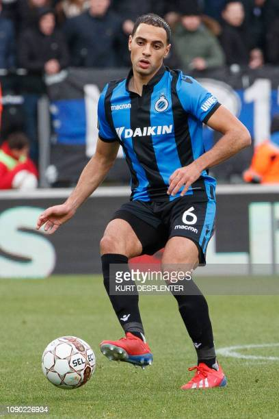 Club's Sofyan Amrabat pictured in action during the soccer match between KV Oostende and Club Brugge Sunday 27 January 2019 in Oostende on the 23rd...