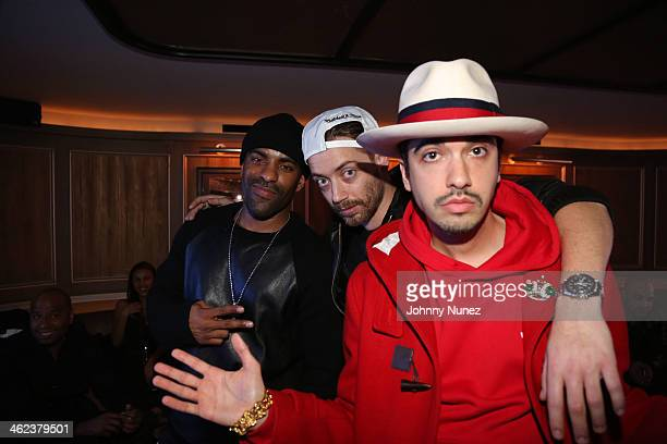 DJ Clue DJ Magnum and DJ Cassidy attend the Magna Carter World Tour New York City After Party at 40 / 40 Club on January 12 in New York City