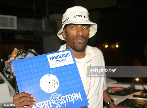DJ Clue during Hyypnotiq Party With DJ Clue and Fabolous at Deep in New York City New York United States