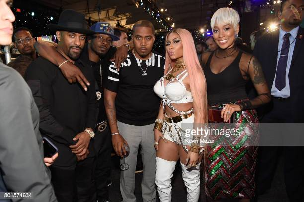 DJ Clue Nas Nicki Minaj and Monica attend the 2017 NBA Awards Live on TNT on June 26 2017 in New York New York 27111_002