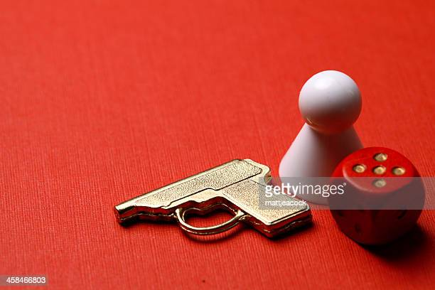 cluedo board game pieces - murder mystery stock photos and pictures