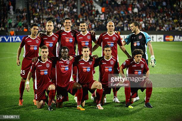 Cluj team group taken prior to the UEFA Champions League group stage match between CFR 1907 Cluj and Manchester United FC on October 2 2012 at the...