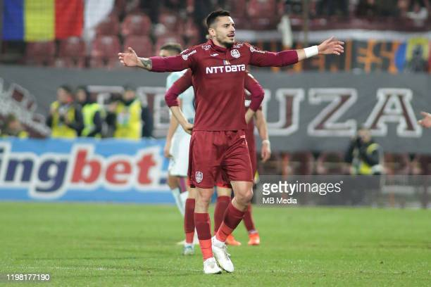 Cluj's Andrei Burca during the Liga I match between CFR Cluj and FCSB at DrConstantinRadulescuStadium on February 2 2020 in ClujNapoca Romania