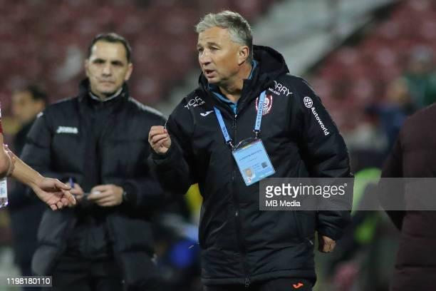 Cluj's coach Dan Petrescu during the Liga I match between CFR Cluj and FCSB at DrConstantinRadulescuStadium on February 2 2020 in ClujNapoca Romania