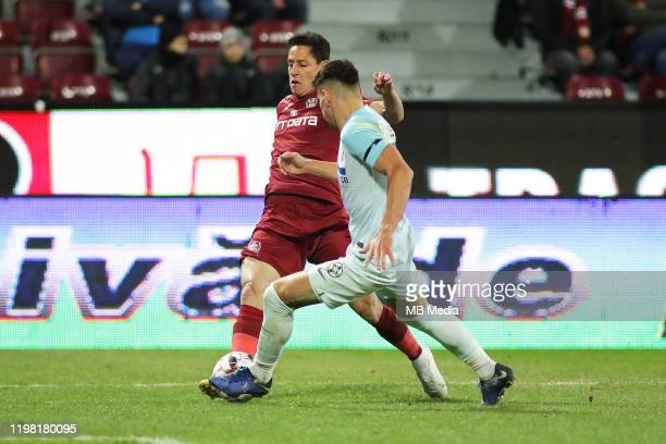 Cluj's Mario Rondon during the Liga I match between CFR Cluj and FCSB at DrConstantinRadulescuStadium on February 2 2020 in ClujNapoca Romania