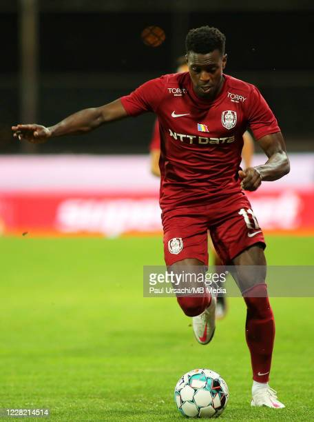 Clujs Michael Pereira during UEFA Champions League Second Qualifying Round game between CFR Cluj and Dinamo Zagreb at Constantin Radulescu Stadium on...
