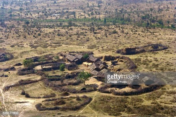 Cluster of mud houses in Rajasthan, Sariska, India.