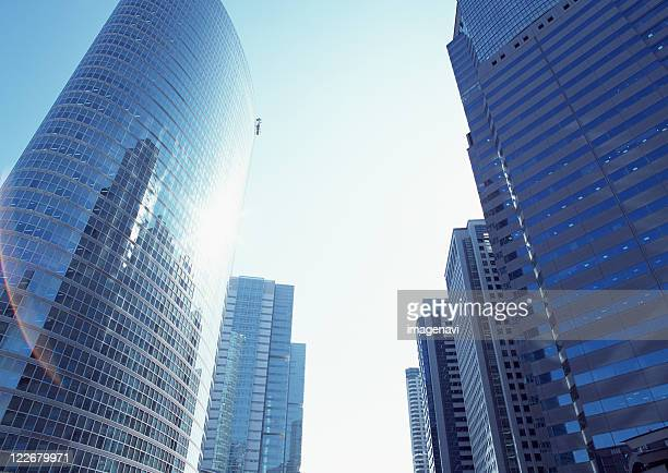 Cluster of tall buildings