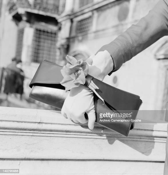 Clutch bag by Italian designer Giuliana Camerino, Italy, circa 1955.