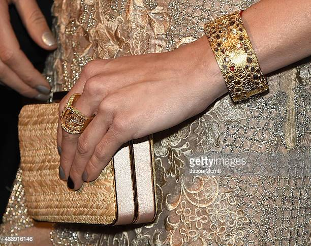 Clutch detail for actress AnnaLynne McCord attends the 8th annual Hollywood Domino Gala presented by BOVET 1822 benefiting artists for peace and...