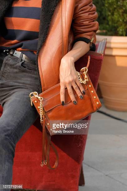 Clutch-handbag detail at the Rebecca Minkoff Spring 2021 Presentation at Spring Studios Terrace on September 15, 2020 in New York City.