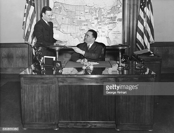 Clyde A. Tolson, assistant director, and John Edgar Hoover, director, Federal Bureau of Investigation, U.S. Department of Justice.