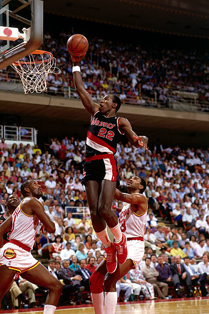 Clyde Drexler of the Portland Trail Blazers