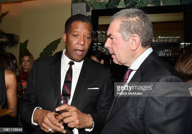 Clyde Jones and John Snyder attend The Andy Warhol Museum's Annual NYC Dinner at Indochine on November 12 2018 in New York New York