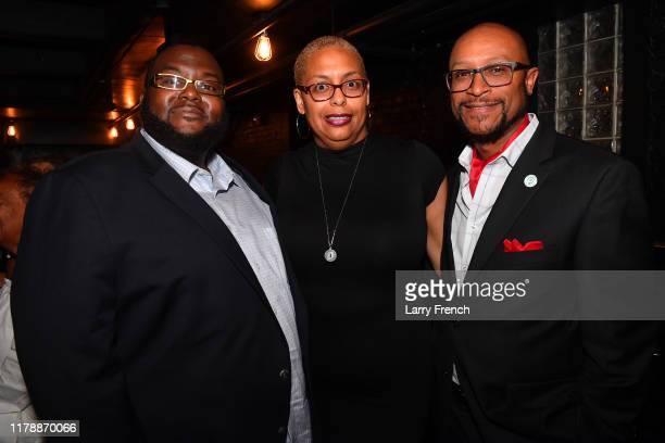 Clyde Joyner Sheryl Green and Tripp Morrow are seen at Jamie Foster Brown's Sister2Sister DC Launch and MsGrandiosity's birthday celebration powered...