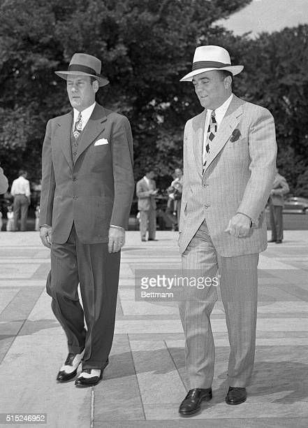 Clyde Tolson and J Edgar Hoover is shown here arriving at the US Supreme Court Building