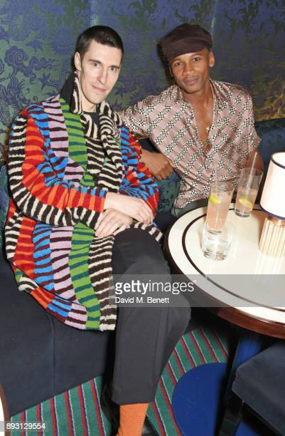Clym Evernden and Eric Underwood attend an after party celebrating the FENDI Sloane Street Boutique opening at Isabel on December 14 2017 in London...