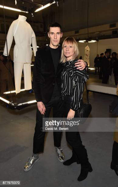 Clym Evernden and Thea Lewis attend the WHITE cocktail party hosted by Italian Trade Agency at Ambika on November 23 2017 in London England