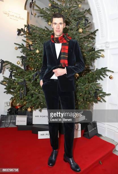 Clym Evernden attends a party hosted by NETAPORTER and MR PORTER to celebrate the festive season in style at One Horse Guards on November 30 2017 in...
