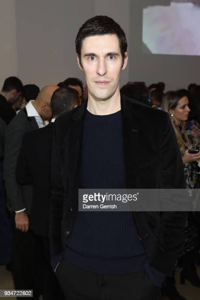 Clym Evernden attends Atelier Swarovski 10th Anniversary Book Launch at Phillips Gallery on March 19 2018 in London England