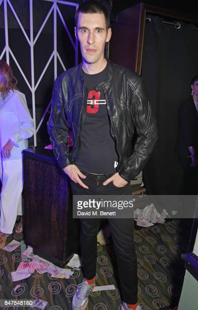 Clym Evernden attends Fiorucci The Resurrection LFW Party supported by Martini at L'Escargot on September 15 2017 in London England
