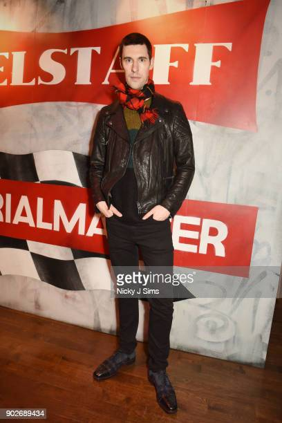 Clym Evernden attends luxury emporium Liberty London London Fashion Week Mens Event to celebrate the launch of the Belstaff Origins collection in...