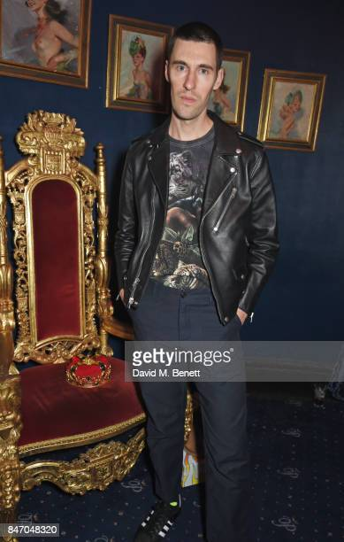 Clym Evernden attends the iD x Jeremy Scott party presented by UGG at Cafe de Paris on September 14 2017 in London England