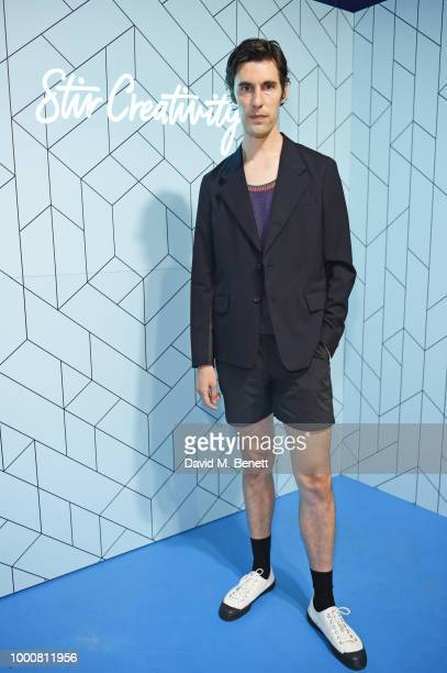 Clym Evernden attends the launch of Bombay Sapphire's 'Canvas' a destination designed to stir creativity and inspire creative selfexpression in...