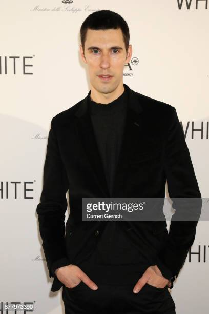 Clym Evernden attends the WHITE cocktail party hosted by Italian Trade Agency at Ambika P3 on November 23 2017 in London England