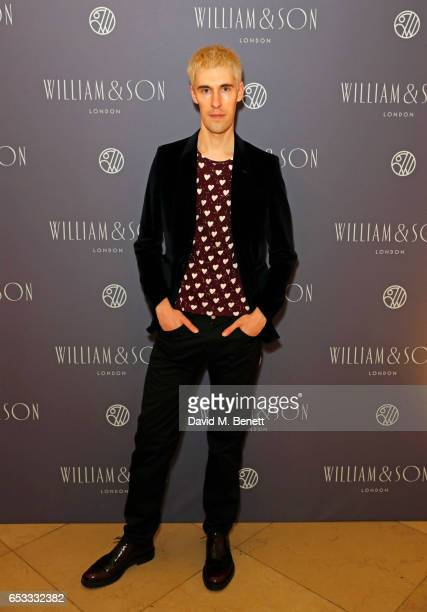 Clym Evernden attends the William Son Gala cocktail party at the National Portrait Gallery on March 14 2017 in London England