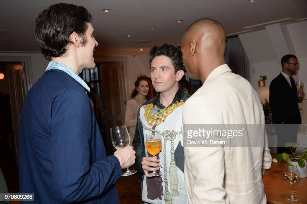 Clym Evernden Daniel W Fletcher and Eric Underwood attend the London Fashion Week Men's cocktail party with DANIEL w FLETCHER and Christian Louboutin...