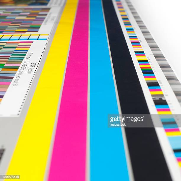cmyk color guide - printout stock pictures, royalty-free photos & images