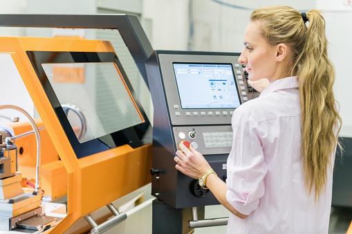 Cnc machine in factory - gettyimageskorea